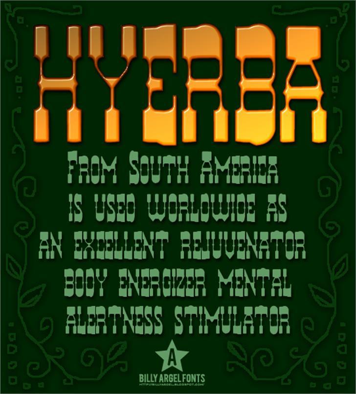 HYERBA Font poster screenshot