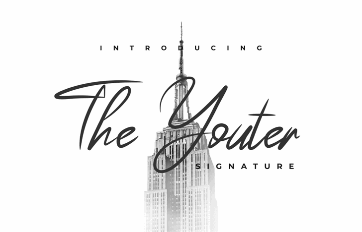 The Youther Font handwriting design