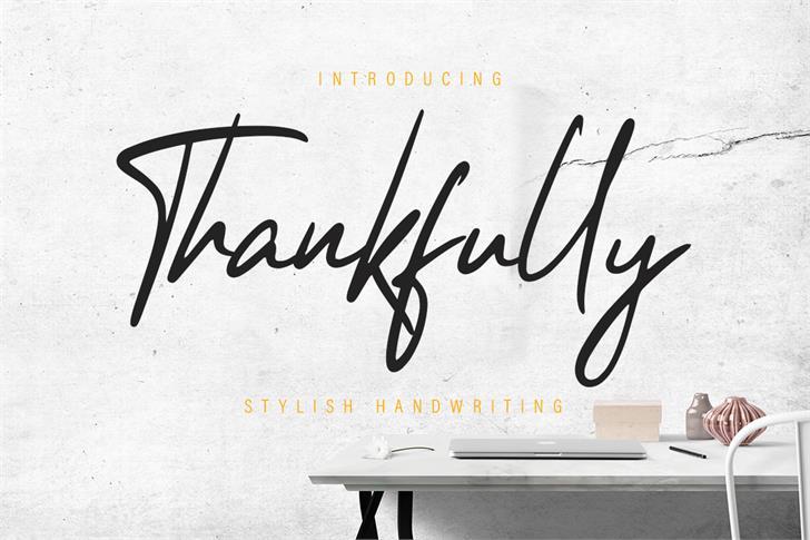 Thankfully Font handwriting typography