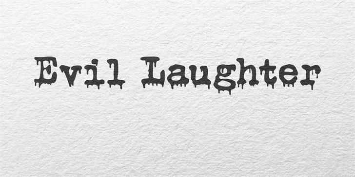 Evil Laughter DEMO Font poster