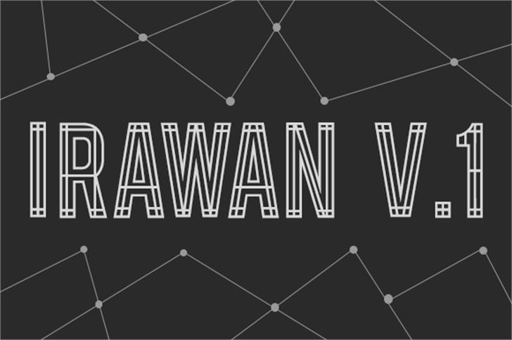 Irawan V.1 font by astrolo