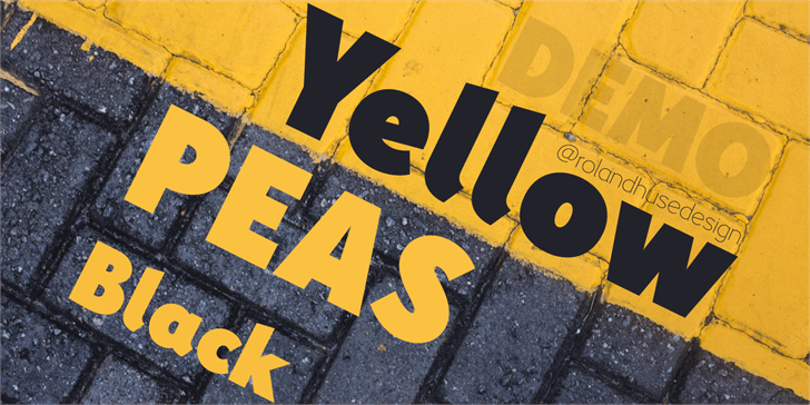 Yellow Peas Demo Black font by Roland Huse Design