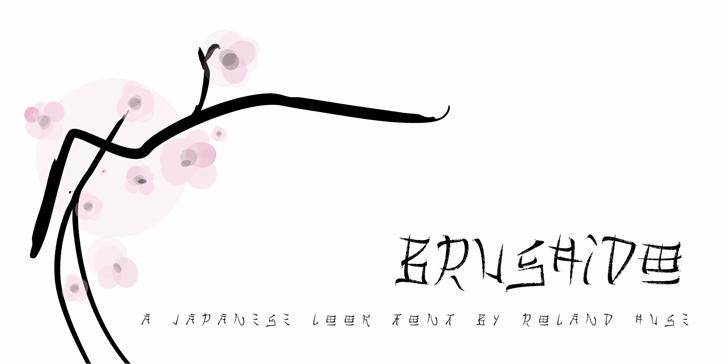 Brushido Font design drawing
