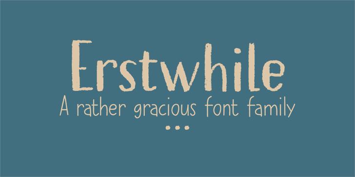 Erstwhile DEMO Font poster