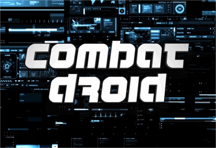 Combat Droid Font - FontSpace