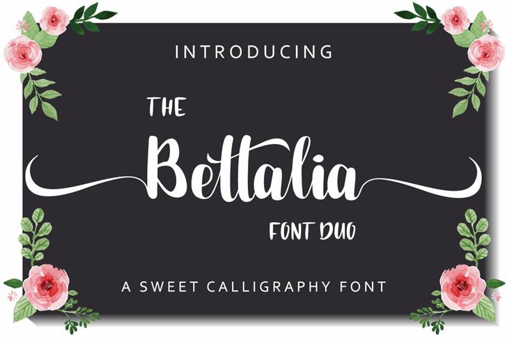 Bettalia Font text design