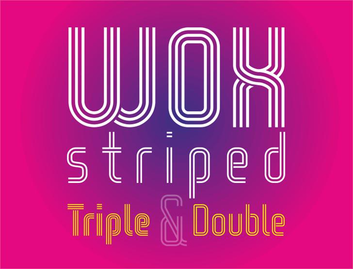 WOX-Striped Triple Demo Font design graphic