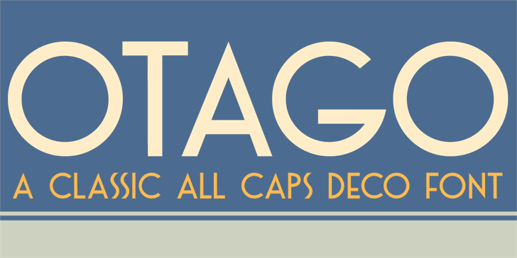 DK Otago Font design screenshot