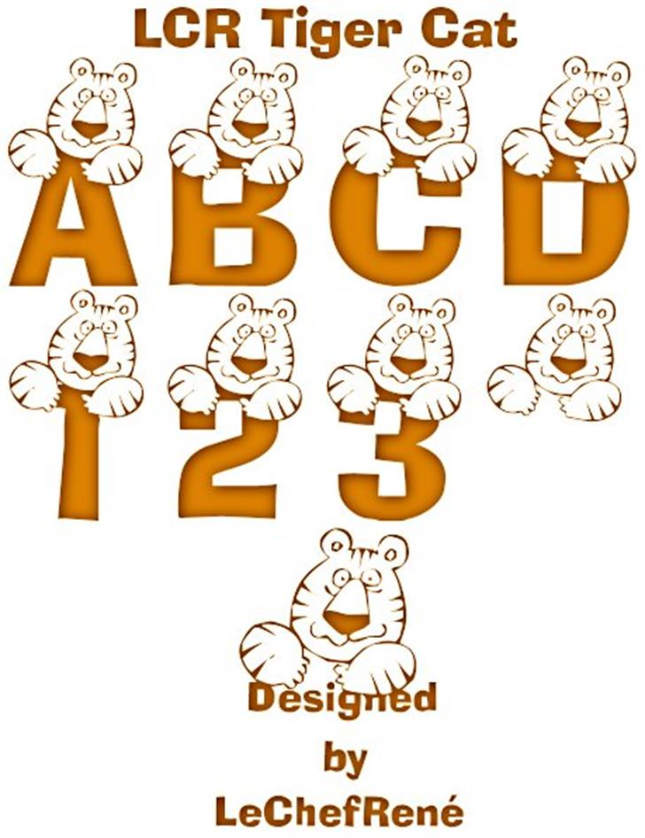 LCR Tiger Cat font by LeChefRene