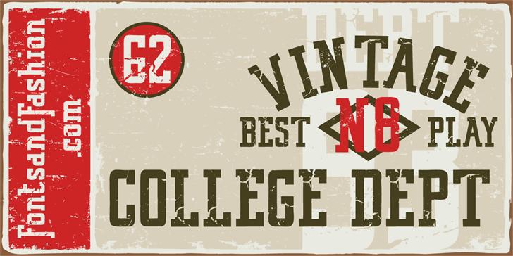 VINTAGE COLLEGE DEPT_DEMO_worn Font poster typography