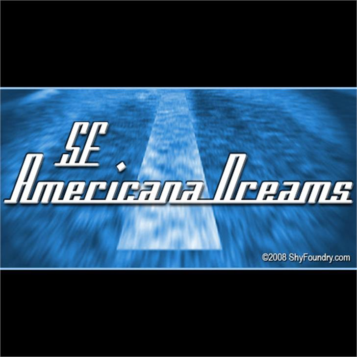 SF Americana Dreams Font screenshot text