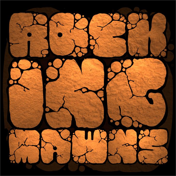 MAWNS rock Font art