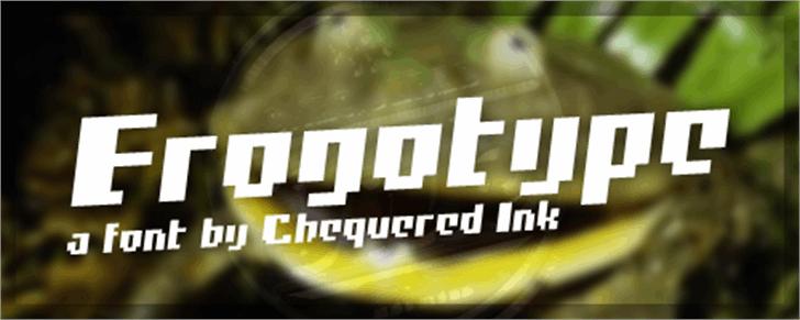 Frogotype Font screenshot