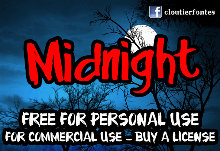 Midnight Font poster text