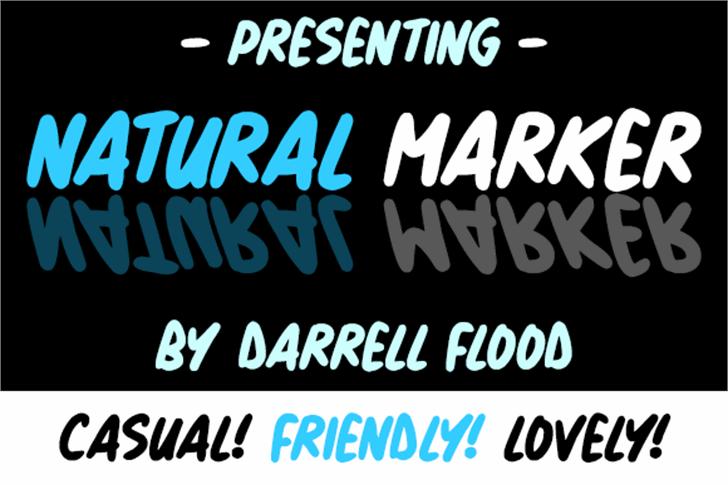 Natural Marker Font text poster