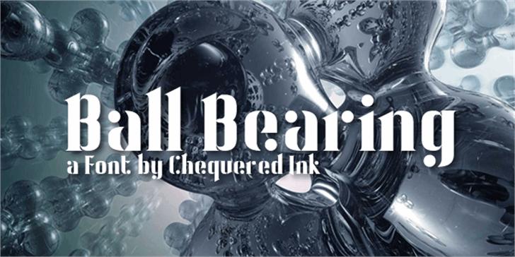 Ball Bearing Font poster screenshot