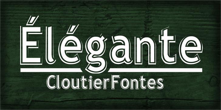 Elegante Regular Font design screenshot