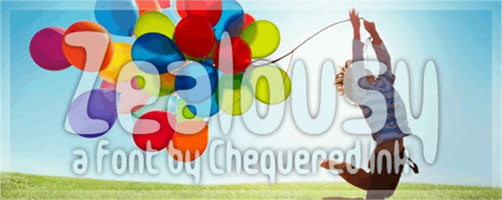 Zealousy Font cartoon balloon
