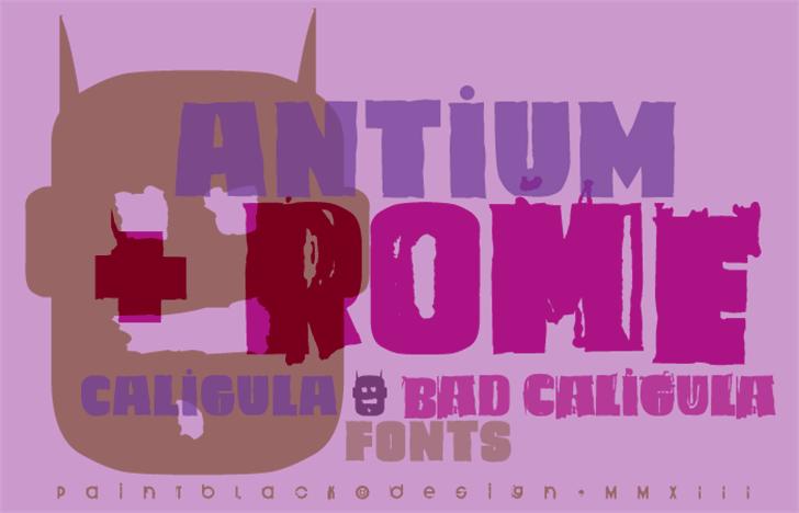 Caligula Font poster design
