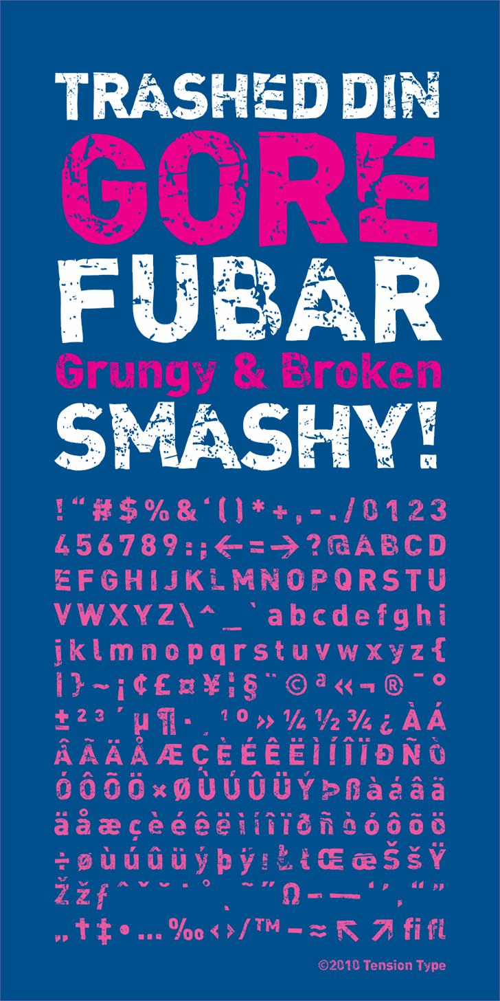 DINk Font poster design