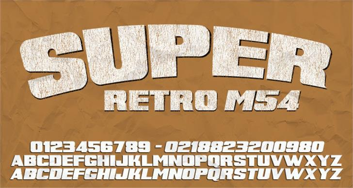 Super Retro M54 Font handwriting text