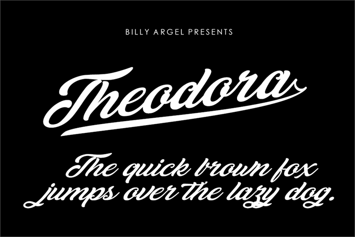 Theodora Personal Use Font design typography