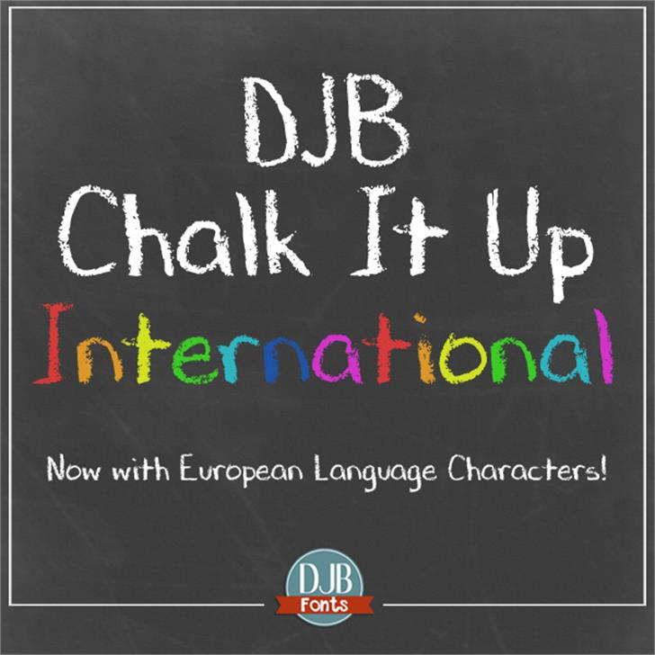 DJB CHALK IT UP Font text screenshot