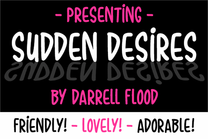 Sudden Desires Font screenshot design