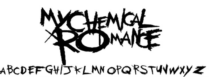 My Chemical Romance Font drawing handwriting