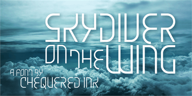 Skydiver On The Wing font by Chequered Ink