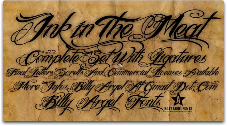 Ink In The Meat font by Billy Argel