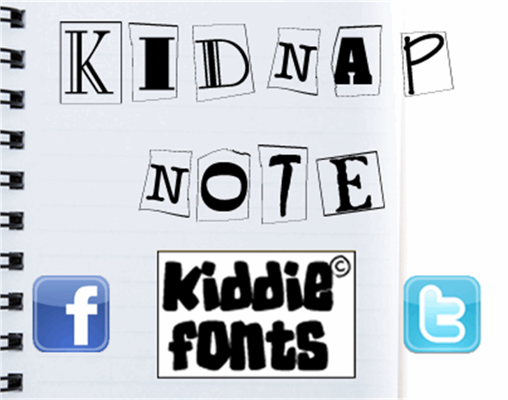 Kidnap Note Font text poster