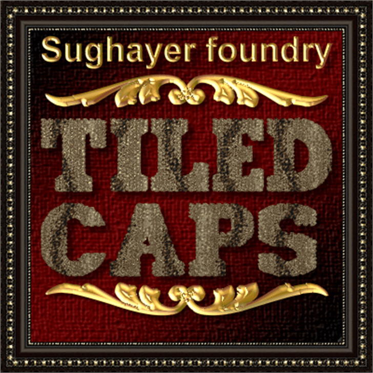 Tiled Caps Font poster text