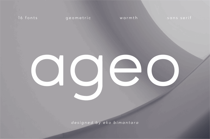 Ageo Personal Use Font screenshot design