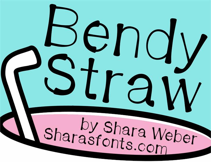 BendyStraw Font handwriting cartoon