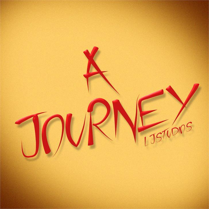 A Journey Font handwriting design