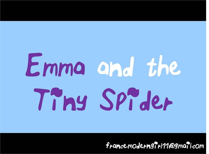 ELF_Emma_and_the_Tiny_Spider Font handwriting screenshot