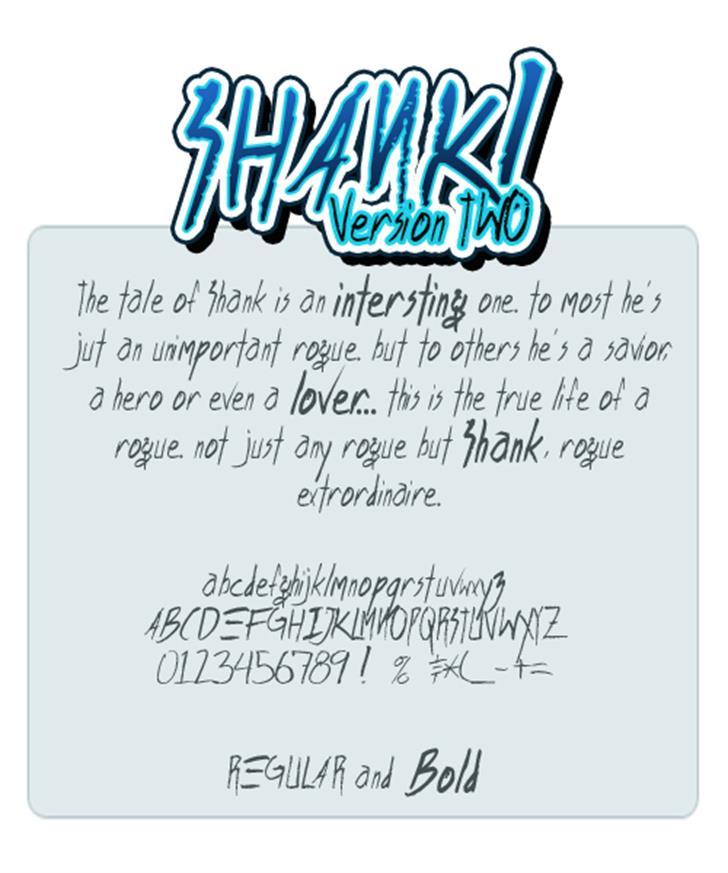 Shank font by Press Gang Studios