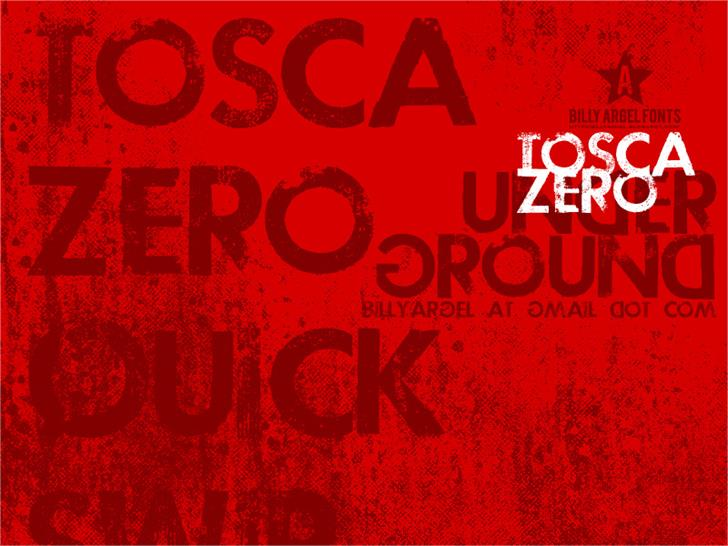 TOSCA ZERO Font sign poster