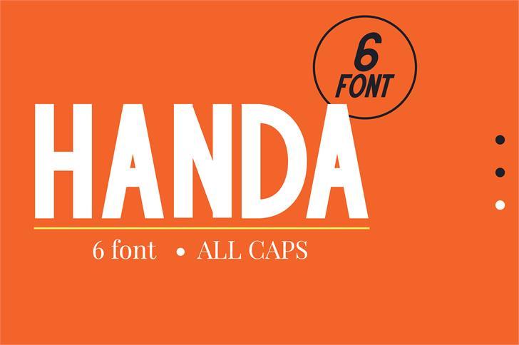 HANDA Font design cartoon