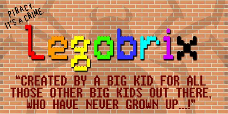 LEGO BRIX Font screenshot geometry