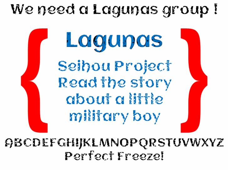 Lagunas font by heaven castro