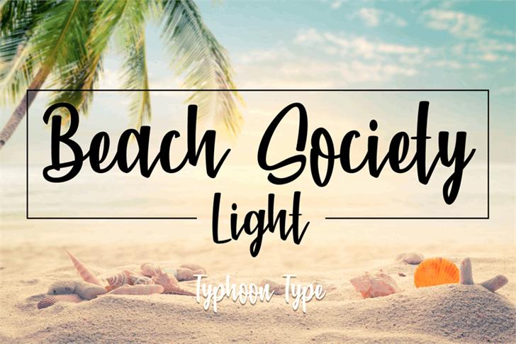 Beach Society Light font by Typhoon Type - Suthi Srisopha