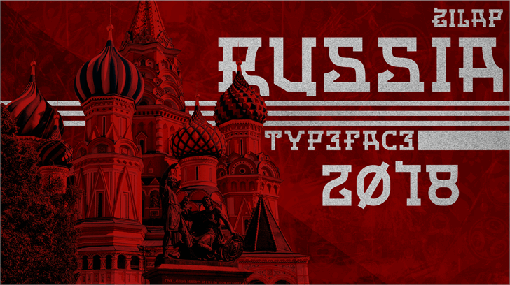 Zilap Russia Personal Use Font poster book