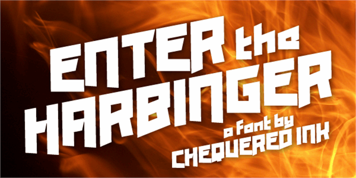 Enter the Harbinger Font screenshot poster
