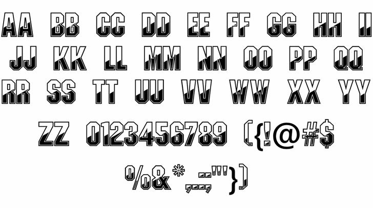 Gunmetal font by Digital Graphics Labs