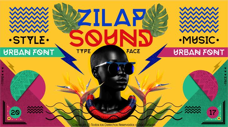 Zilap Sound Personal Use Font text cartoon