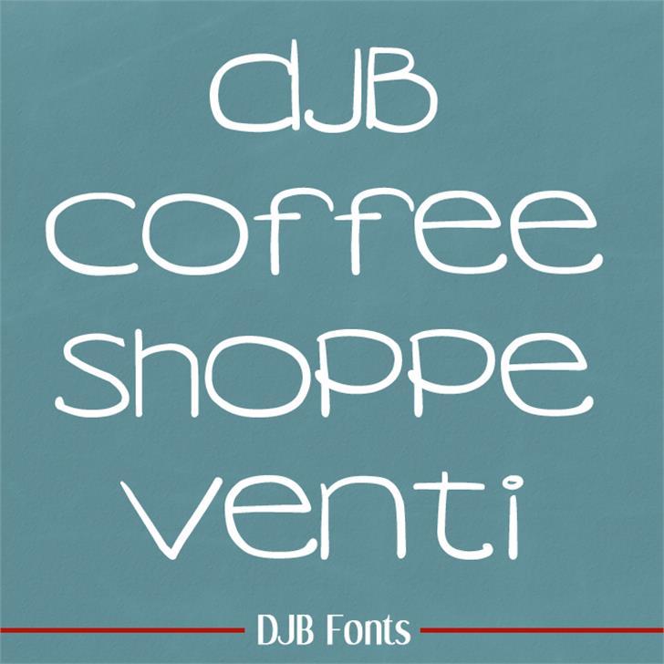 DJB COFFEE SHOPPE VENTI Font blackboard text