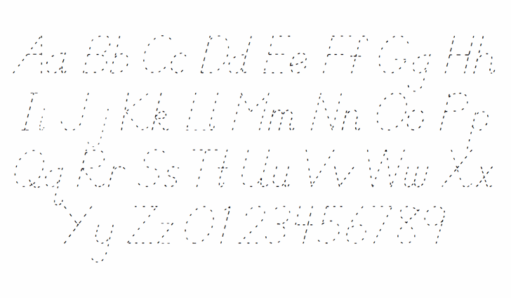NealFont Letters Charmap