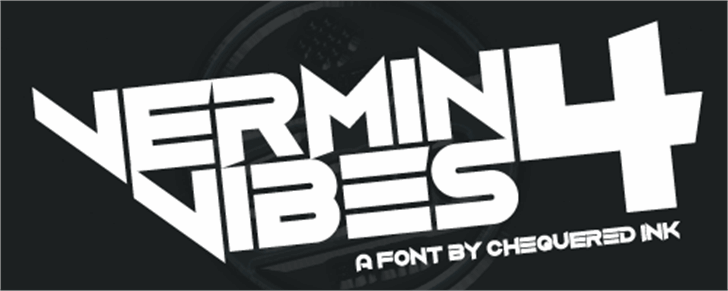 Vermin Vibes 4 Font poster clipart